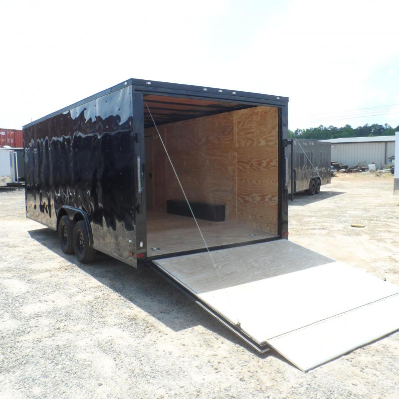 2019 Covered Wagon Trailers 8.5x20 Bk Black out ramp door Enclosed Cargo