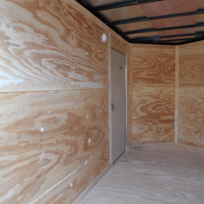 2019 Covered Wagon Trailers 6x12 7' 3x6 Window Yellow Enclosed Cargo Concesion
