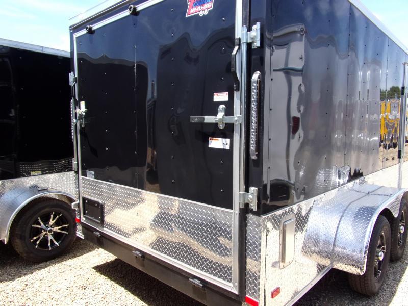 2019 Covered Wagon Trailers 7x16 MCP Bk ramp door Enclosed Cargo Trailer