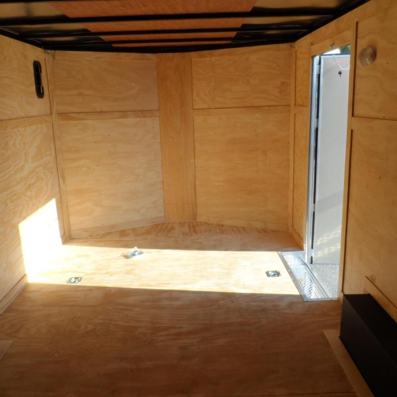 2019 Covered Wagon Trailers 8.5x16 MCP Bk&Or ramp door Enclosed Cargo Trailer