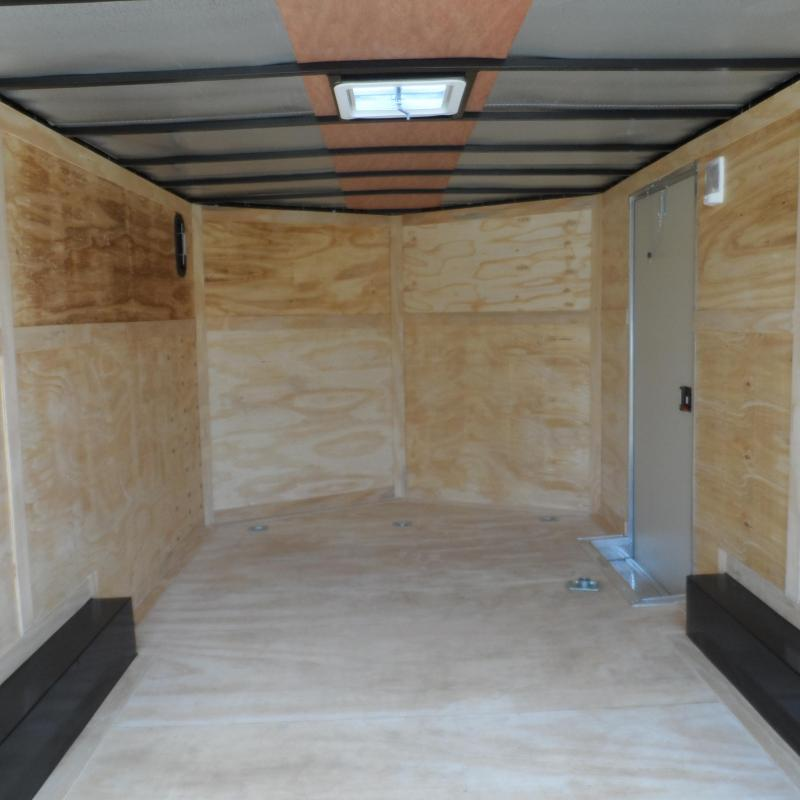 2019 Covered Wagon Trailers 8.5x16 MCP White ramp door Enclosed Cargo Trailer