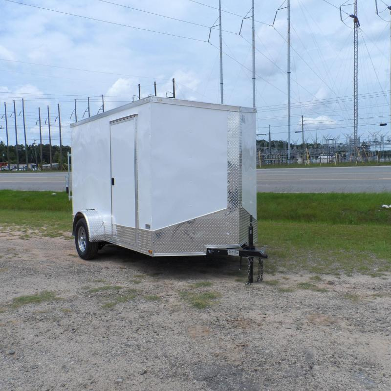 2019 Quality Cargo 6x10 Quest ramp door White Enclosed Cargo Trailer