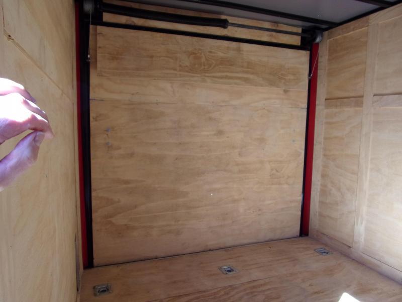 2019 Quality Cargo 7x10 MCP ramp door  Red Enclosed Cargo Trailer