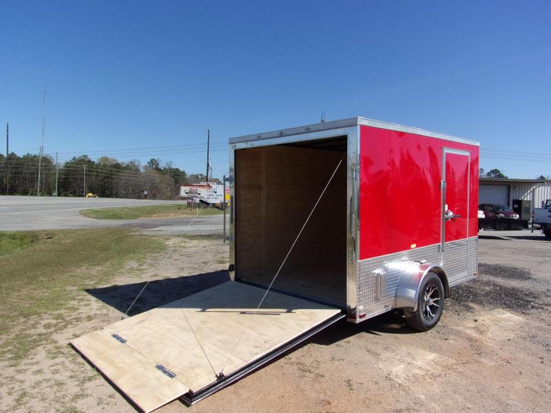 2019 Quality Cargo 7x10 MCP ramp door  Red Enclosed Cargo Trailer