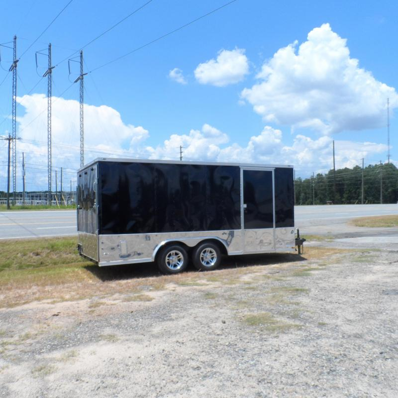 2019 Quality Cargo 8.5x16 MCP ramp door Black Enclosed Cargo Trailer