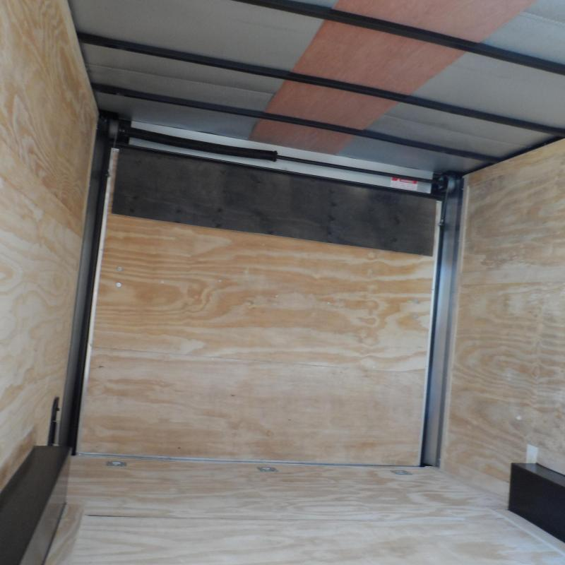 2019 Quality Cargo 8.5x16 MCP ramp door Black Enclosed Cargo Trailer