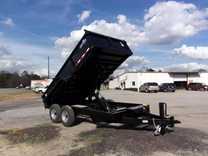 2019 Hawke 7x14 24 high side 14k Low Pro Dump Trailer w Tarp