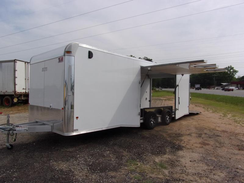 2019 Mission 8.5x24 Wh spread axle ramp door Elite Ecsape door Enclosed Cargo Trailer