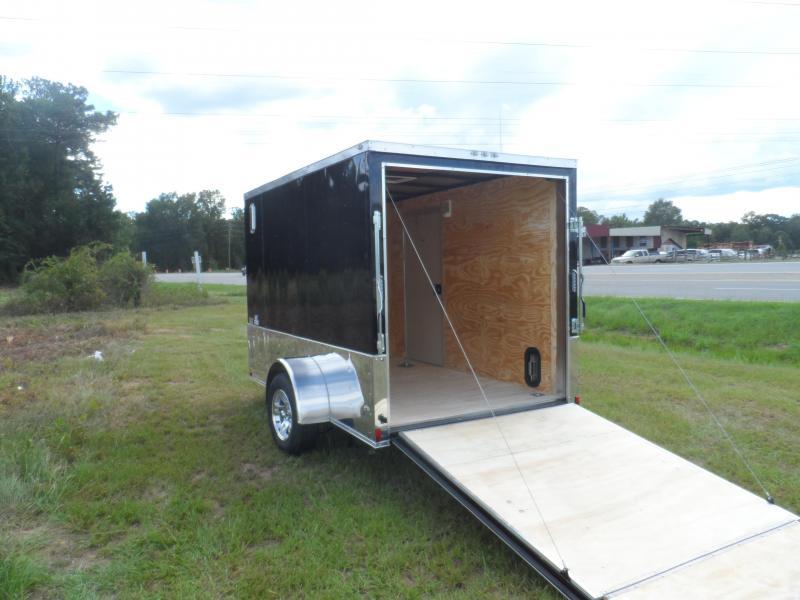2019 Quality Cargo 6x10 MCP ramp door Black Enclosed Cargo Trailer in Ashburn, VA
