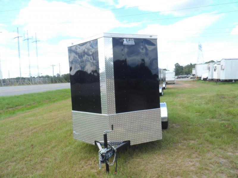 2019 Quality Cargo 6x10 MCP ramp door Black Enclosed Cargo Trailer