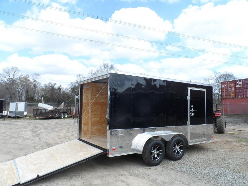 2019 Covered Wagon Trailers 7x12 MCP Bk Anodized ramp door Enclosed Cargo Trailer