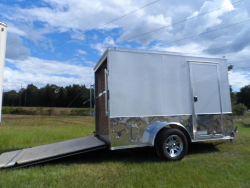 2019 Quality Cargo 6x10 MCP ramp door  White Enclosed Cargo Trailer in Ashburn, VA