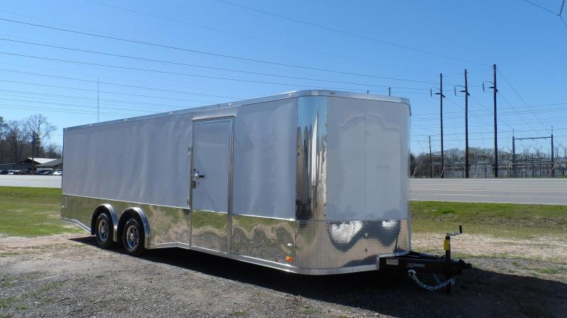 2019 Covered Wagon Trailers 8.5x24 MCP White Spread axles ramp door Enclosed Cargo in Ashburn, VA