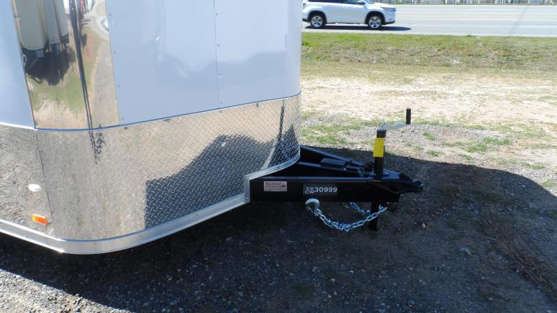 2019 Covered Wagon Trailers 8.5x24 MCP White Spread axles ramp door Enclosed Cargo
