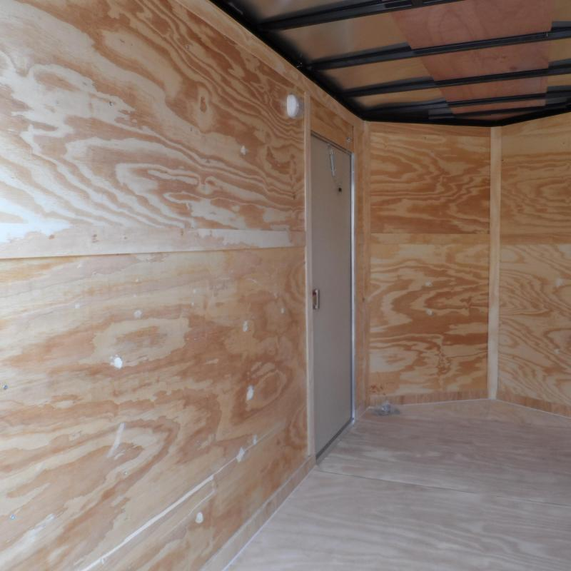 2019 Covered Wagon Trailers 6x12 7' 3x6 Window White Vending Enclosed Cargo Concesion