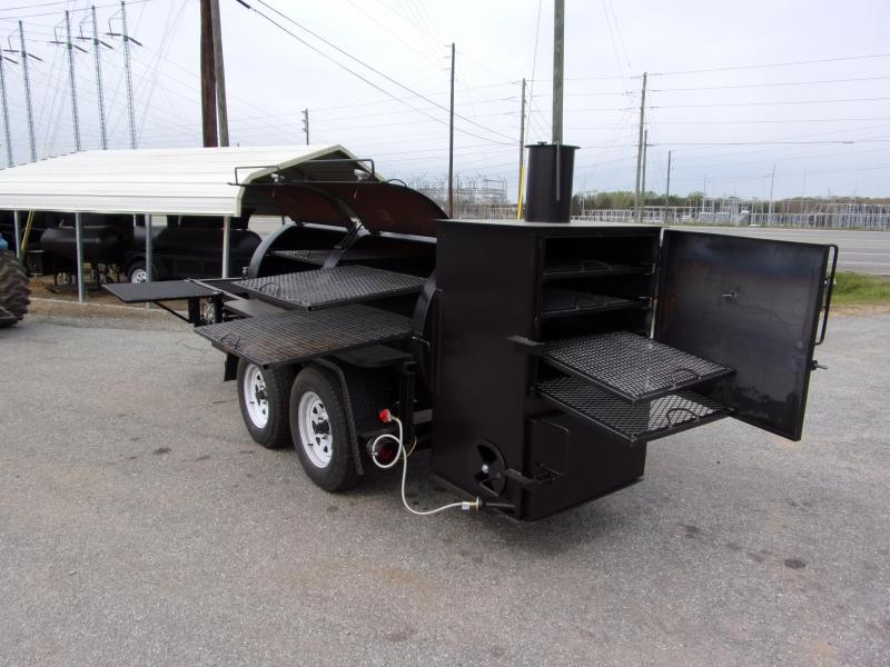 2019 Bubba Grills  500R612 TA Reverse Flow Smoker Vending / Concession Trailer