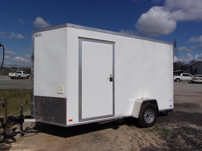 2019 Covered Wagon Trailers 6x12 7' 3x6 Window Hand Sink pkg  Cabinets White Vending Enclosed Cargo Concesion