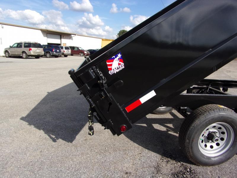 2019 Hawke 6x12 24 high side 10k Deck Over Dump Trailer