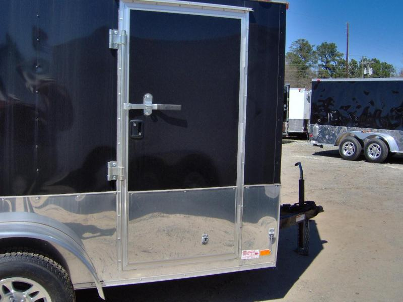 2019 Covered Wagon Trailers 7x12 MCP Finshed InteiorBk Anodized ramp door Enclosed Cargo Trailer