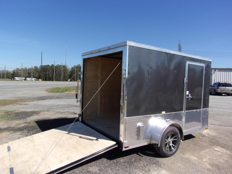 2019 Quality Cargo 7x10 MCP ramp door  Gray Enclosed Cargo Trailer