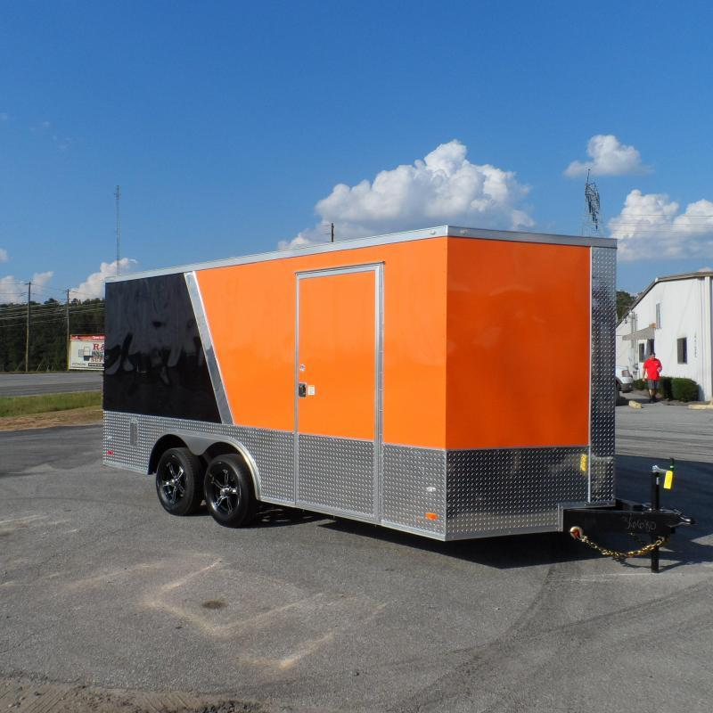 2019 Covered Wagon Trailers 8.5x16 MCP Bk&Or slant ramp door Enclosed Cargo Trailer
