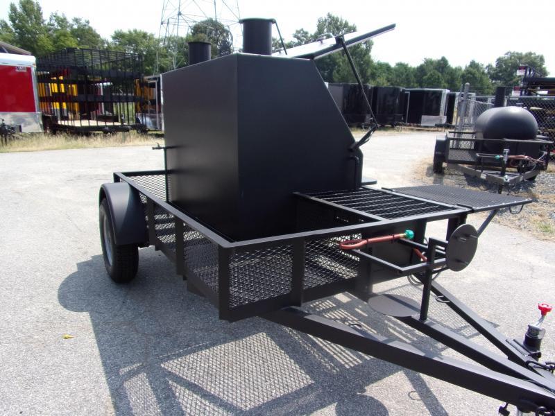 2019 Bubba Grills  500R612 TA Reverse Flow Smoker Vending / Concession Trailer