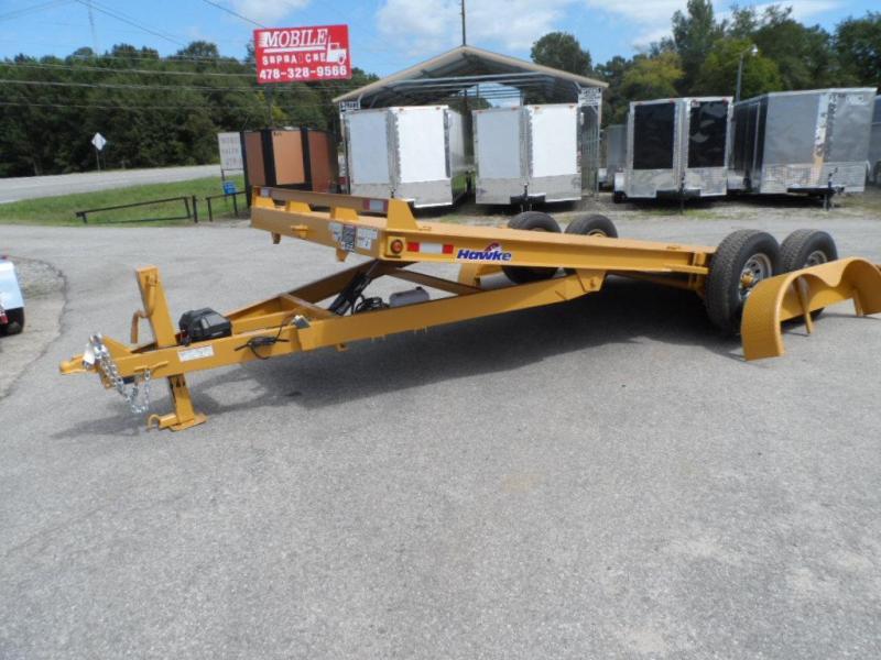 2019 Hawke Trailers equipment 80x20 12k Hydraulic tilt deck Equipment Trailer