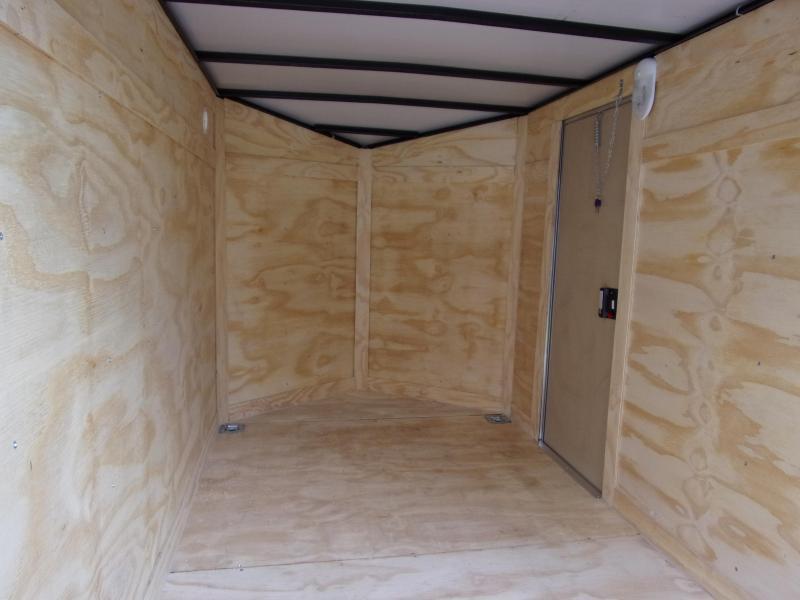 2019 Quality Cargo 5x8 Quest ramp door White Enclosed Cargo Trailer