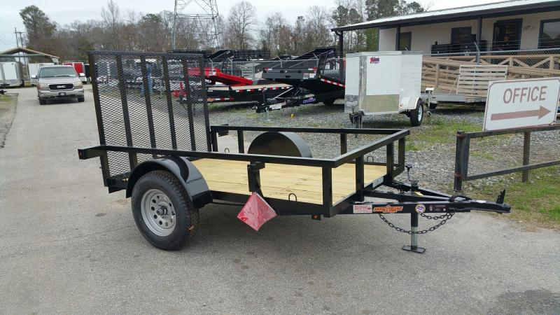 2019 Down 2 Earth Trailers 5x8ut Utility Trailer Tube Rails