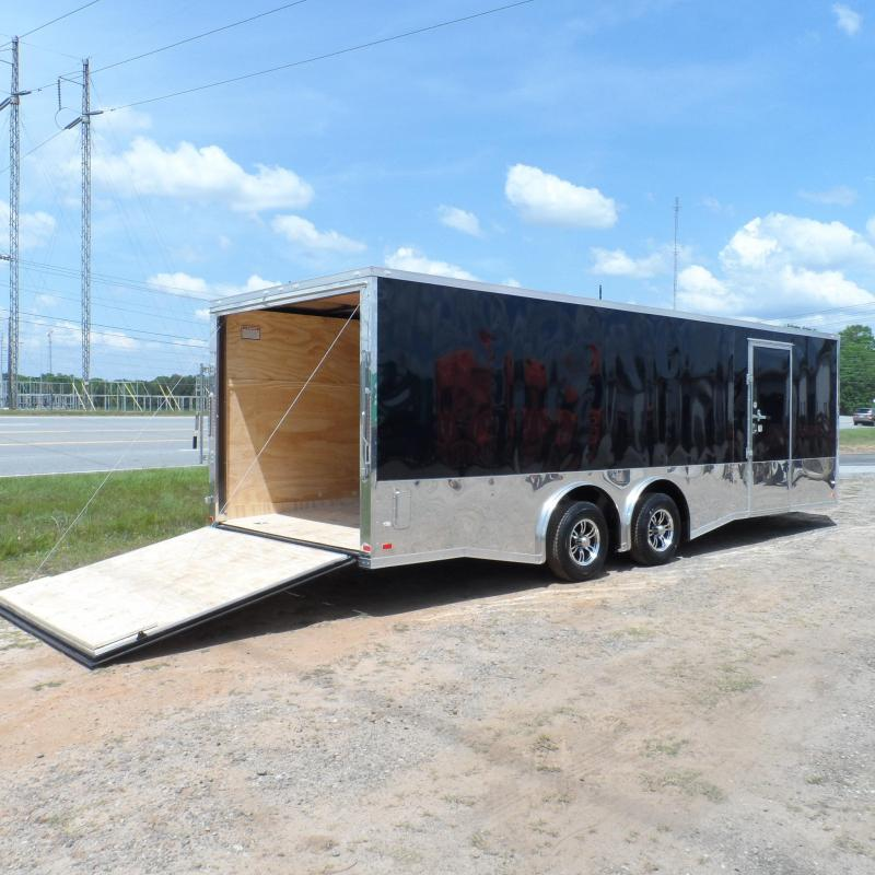 2019 Covered Wagon Trailers 8.5x24 MCP Black Spread axles ramp door Enclosed Cargo in Ashburn, VA