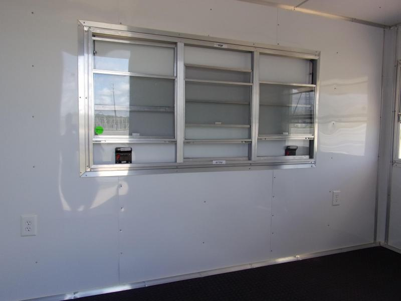 2019 Covered Wagon Trailers 6x12 7' 5x6 & 3x6 Window 3 Sink pkg  Cabinets White Vending Enclosed Cargo Concesion