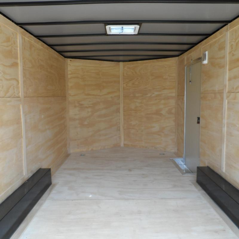 2019 Quality Cargo 8.5x16 7' Interior ramp door White Enclosed Cargo Trailer