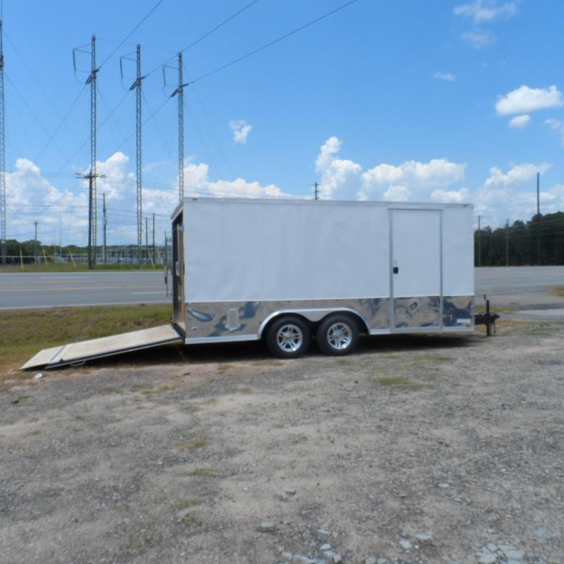 2019 Quality Cargo 8.5x16 MCP ramp door White Enclosed Cargo Trailer