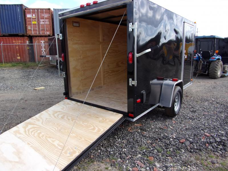 2019 Covered Wagon Trailers 6x12 Ramp door silv Series Black Enclosed Cargo Trailer
