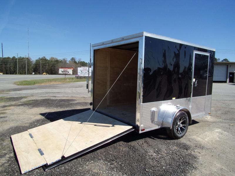 2019 Quality Cargo 7x10 MCP ramp door Black Enclosed Cargo Trailer