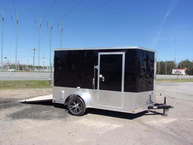 2019 Quality Cargo 7x10 MCP ramp door Black Enclosed Cargo Trailer