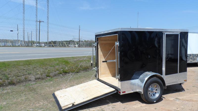2019 Quality Cargo 6x10 Quest ramp door Black Enclosed Cargo Trailer in Ashburn, VA