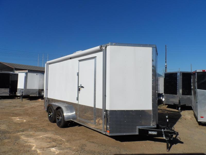 2019 Covered Wagon Trailers 7x16 Finished AC Elec PKGramp door Enclosed Cargo Trailer