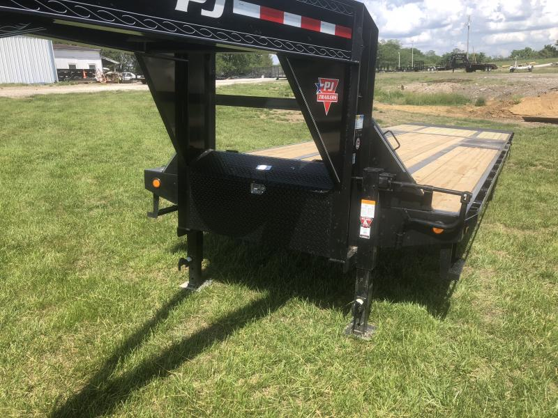 2018 PJ TRAILERS 102X32 GOOSENECK LO PRO DECK OVER FLATBED TRAILER WITH HYDRAULIC DOVE TAIL