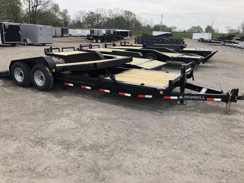 2019 IRON BULL 83X20 EQUIPMENT HAULER LOPRO TRAILER