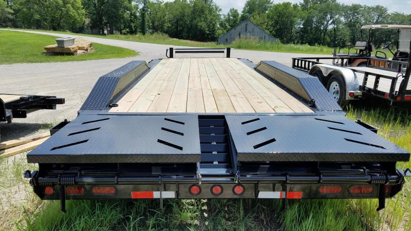 2019 IRON BULL 102 X 24 TRIPLE AXLE EQUIPMENT HAULER TRAILER WITH DRIVE OVER FENDERS