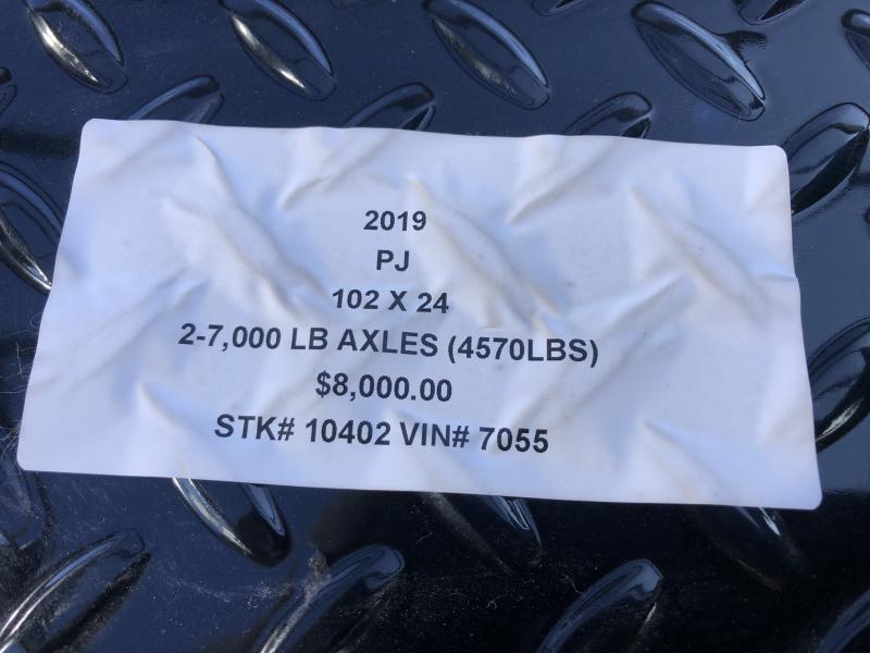 2019 PJ TRAILERS 102X24 GOOSENECK DECKOVER FLATBED TRAILER
