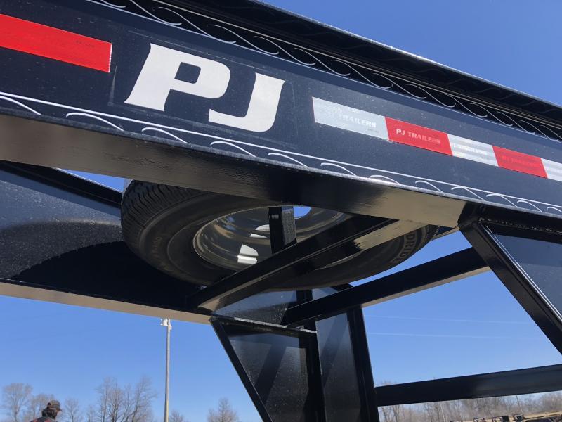 2018 PJ TRAILERS 102x32 GOOSENECK DECK OVER FLATBED TRAILER