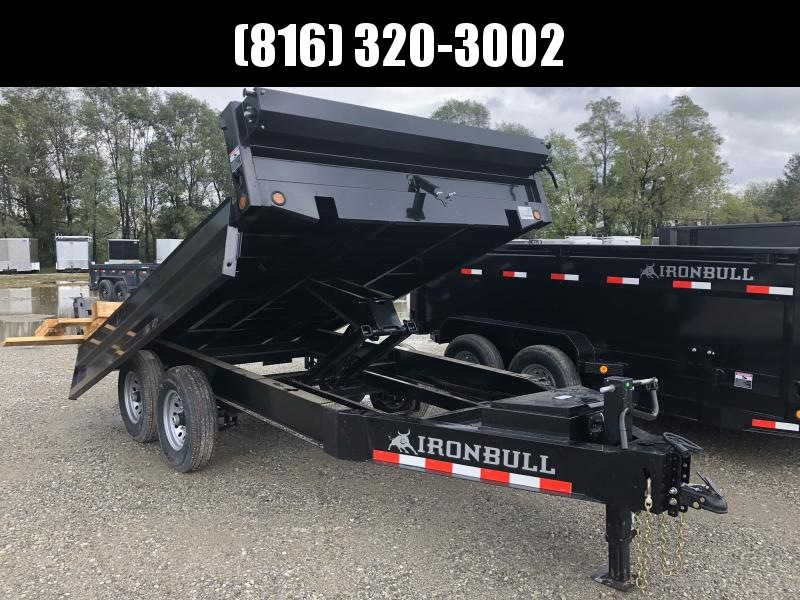 2019 IRON BULL 96X12 BUMPER DUMP DECK OVER TRAILER in Ashburn, VA