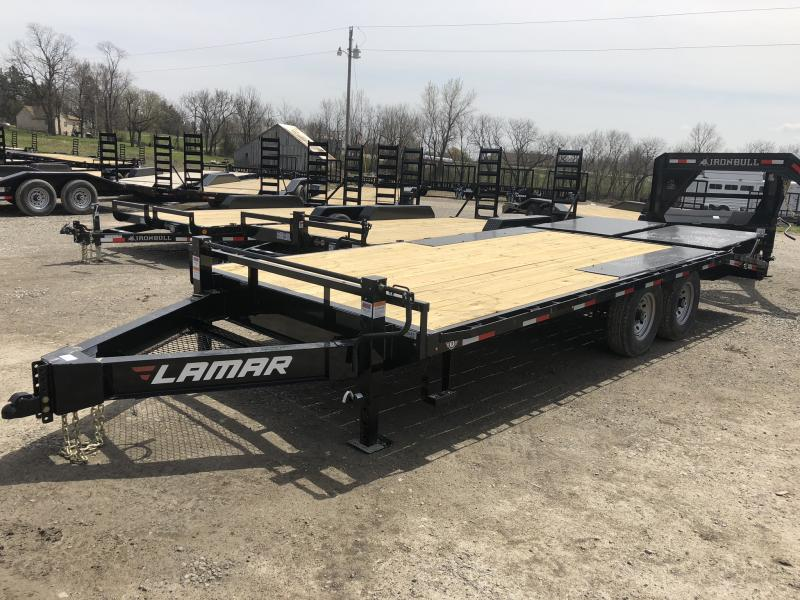 **SALE**  2018 LAMAR 102 X 20 DECKOVER FLATBED EQUIPMENT HAULER TRAILER