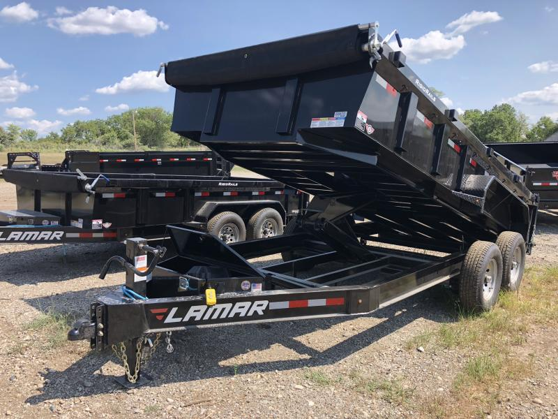 2018 LAMAR TRAILERS 83X16 LOPRO BUMPER DUMP TRAILER in Dawn, MO