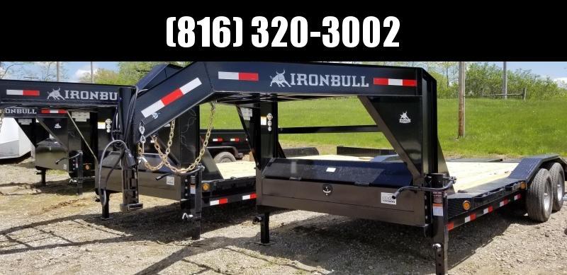2019 IRON BULL 102 X 20 Gooseneck Equipment Hauler Trailer