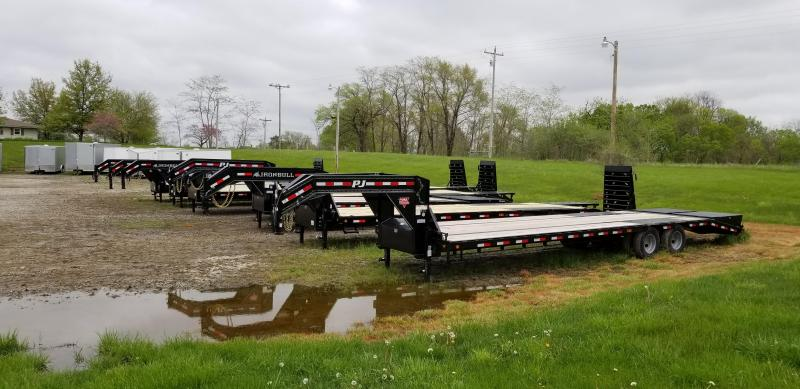 2019 IRON BULL 102 X 20 Gooseneck Equipment Hauler Trailer