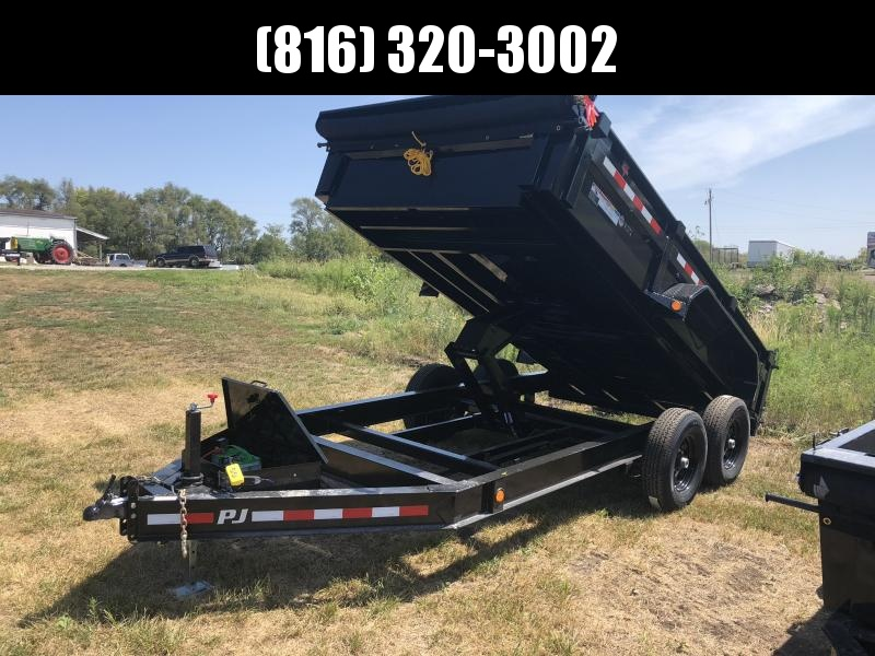2019 PJ TRAILERS 83X14 BUMPER DUMP LOPRO TRAILER in Ashburn, VA
