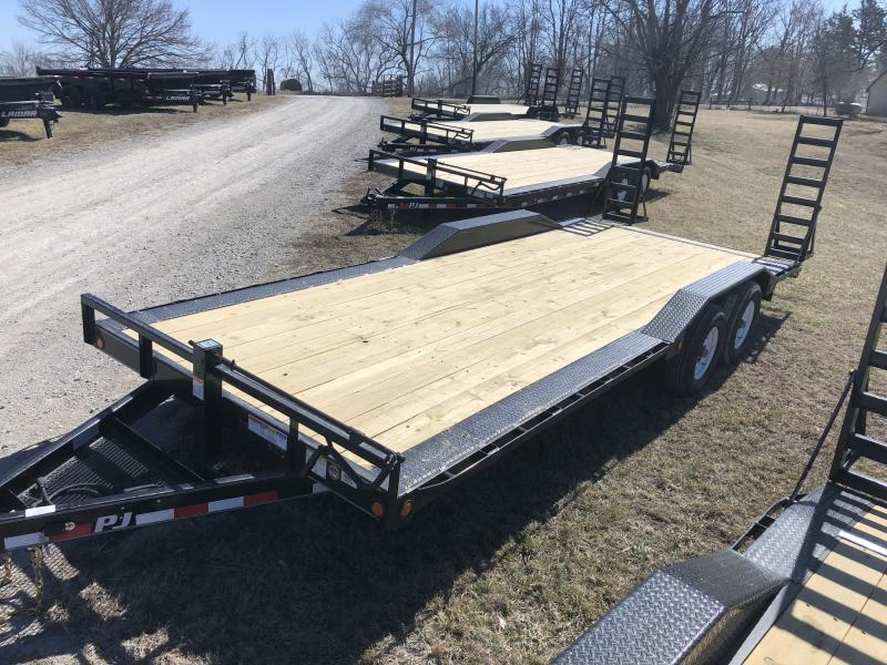2018 PJ TRAILERS 102X22 SUPER-WIDE EQUIPMENT HAULER TRAILER